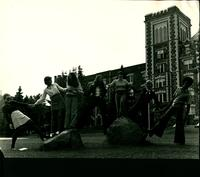 1960s Students in Front of Tower Hall