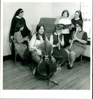 1967 Music faculty and students practicing