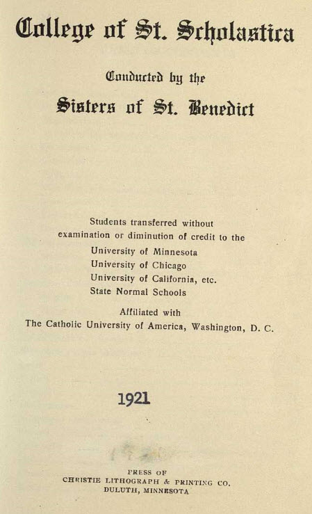 Bulletin Catalog, 1921