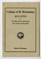 Bulletin Catalog, 1921? Villa Sancta Scholastica (High School)