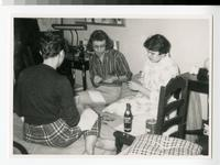 1958 Students in their Tower Hall Dorm Room