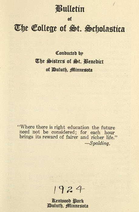 Bulletin Catalog, 1924