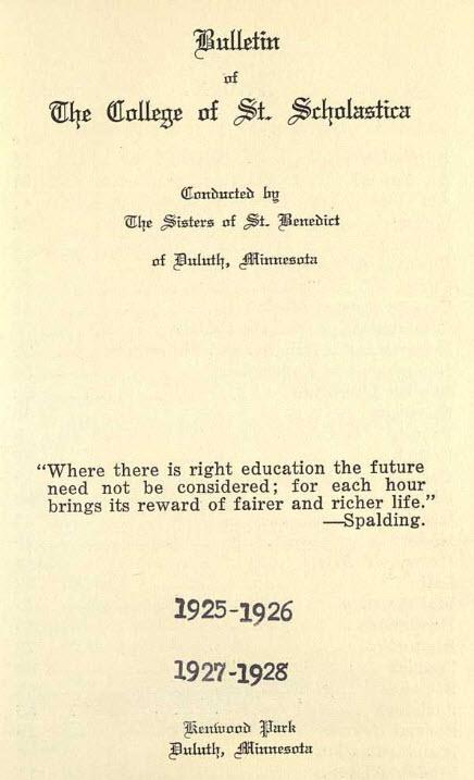 Bulletin Catalog, 1925-28