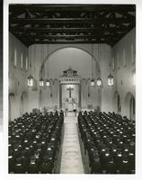 1950s Students Wearing Caps and Gowns in the Our Lady Queen of Peace Chapel