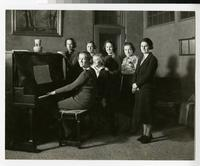 1930s Students Gather Around a Piano