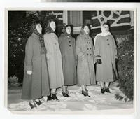 1956 Students Caroling Outside Tower Hall