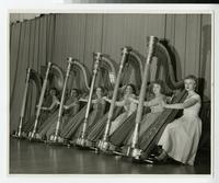 1957 Students in a Harp Concert
