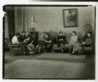 1934 Students Relaxing in the Tower Hall Students Lounge