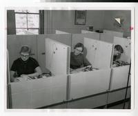 1950s Students Working in Language Lab