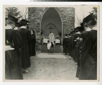 1954 Students Celebrating Marian Mass at Gethsemane Chapel