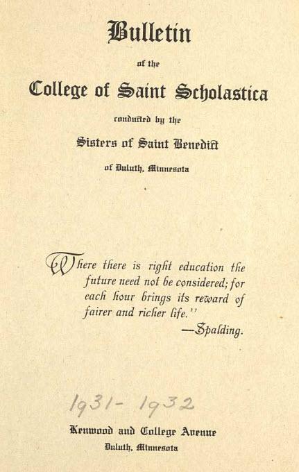 Bulletin Catalog, 1931-32