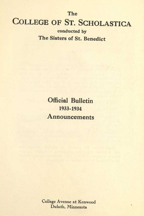 Bulletin Catalog, 1933-34