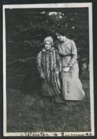 """1909-1913 """"Winter & Summer"""" Two Students Outside"""