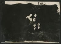 """1909-1913 """"Poses"""" Five Students Outside"""