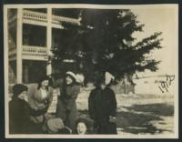 1912 Students in Front of Tower Hall