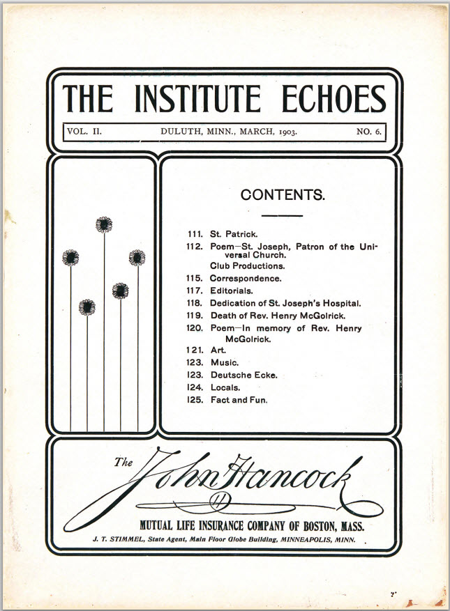 The Institute Echoes (1903)