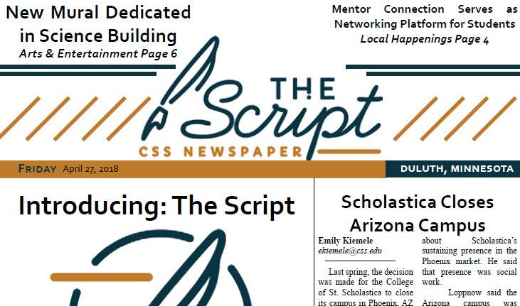 Script Student Newspaper (2018-)