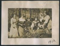 1912 A Sister and Students Outside