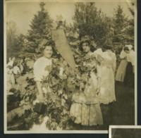 1909-1913 Students Holding a Commercials Pennant