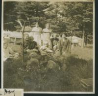 1909-1913 A Group of Students Roasting Sausages