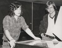 1970s Games Room People at Pinball Machine