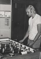1970s Games Room Man Playing Foosball