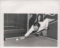 1970s Games Room Person Playing Pool