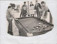 1970s Games Room Group Plays Pool