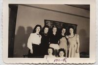 1941 March Seven Students after Home Economics Pledge Dinner