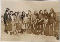1940 Eleven Students on the Terrace of Tower Hall