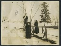 1910 Students Outside in Winter