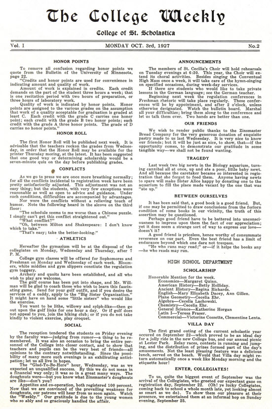 College Weekly (1927-28)