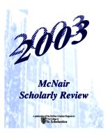 McNair Scholarly Review, 2003