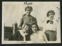 """1909-1913 """"Chris, Nyna, Kelley, and Grouch"""""""