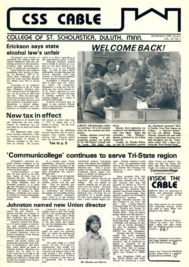 Cable Student Newspaper (1977-78) More issues coming soon!