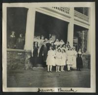 """1909-1913 Hermina von Witzleben as Queen Edith with the """"Scarie Bunch"""""""