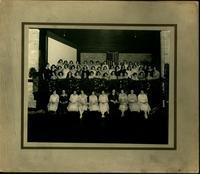1922 Graduation Lineup in Gymnasium/Theatre